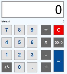 Рис. 1. Простейший калькулятор